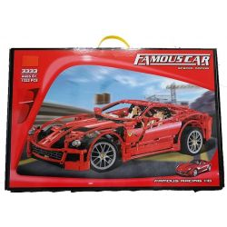 Decool 3333 Jisi 3333 Xếp hình kiểu Lego RACERS Ferrari 599 GTB Fiorano 1 10 Siêu Xe Tỉ Lệ 1 10 1327 khối